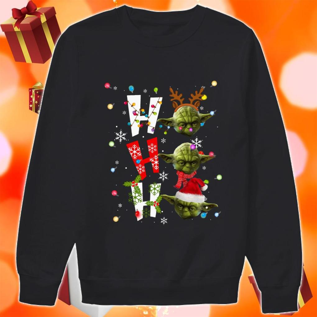 Yoda Ho Ho Ho Christmas sweater