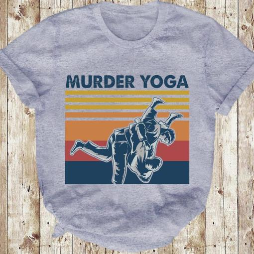 Murder Yoga Funny Vintage Jui Jitsu T-shirt 1 Picturestees Clothing - T Shirt Printing on Demand