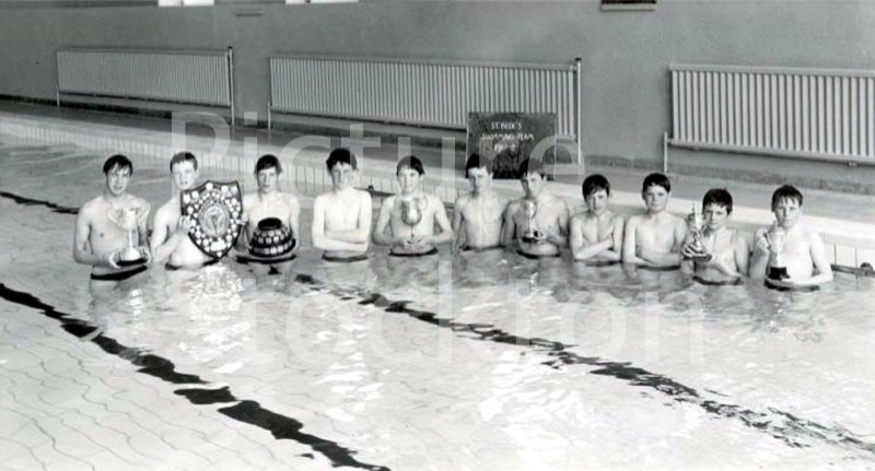 St Bedes Swimming Team 1967 8 Picture Stockton Archive
