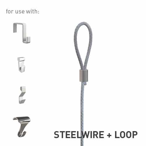 Artiteq Steel Wire with Loop 2mm