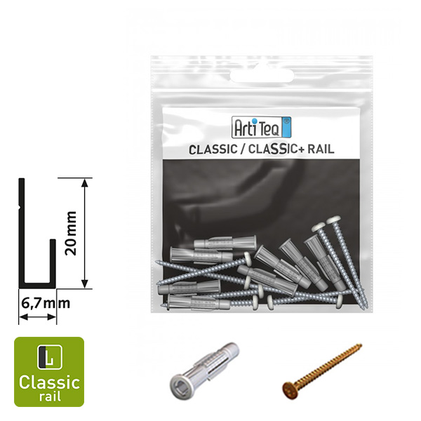Artiteq Classic Rail Installation Kit