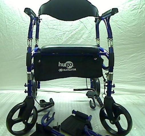 walker transport chair in one hugo navigator leather chairs with ottoman combination rolling blue 349