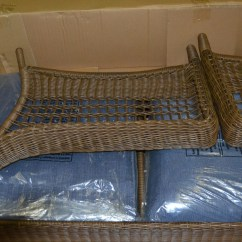 Spring Haven Brown All Weather Wicker Patio Sofa Clic Clac With Sky