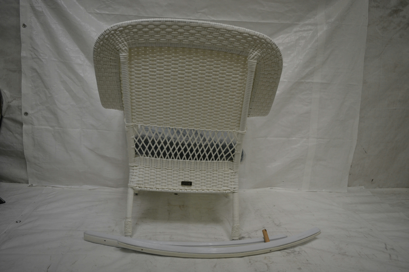 White Wicker Rocking Chair Charlottetown White All Weather Wicker Patio Rocking Chair