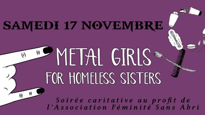 Metal Girls For Homeless Sisters – Samedi 17 Novembre au Black Dog !