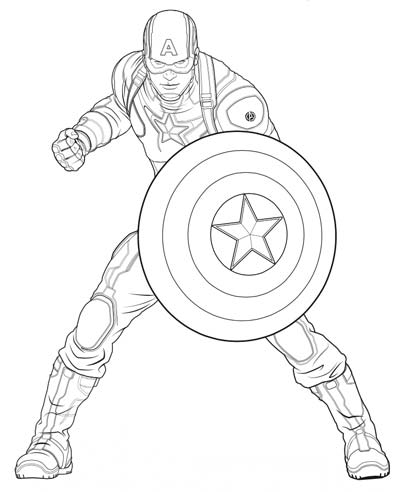 Captain America Coloring Page : captain, america, coloring, UPDATED], Captain, America, Coloring, Pages, (September, 2020)