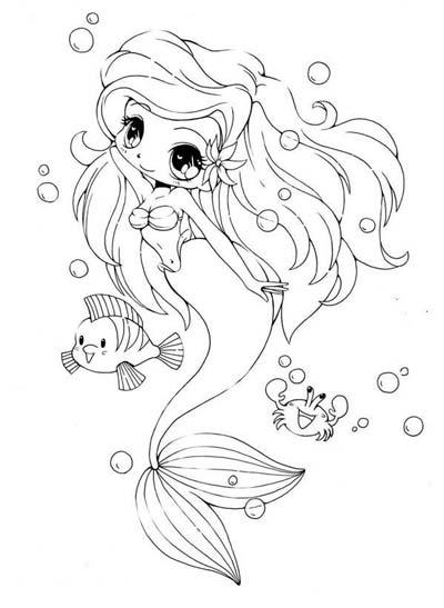 Baby Mermaid Coloring Pages : mermaid, coloring, pages, Little, Mermaid, Coloring, Pages, 2020), Ariel