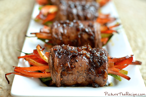 Balsami Glazed Steak Rolls