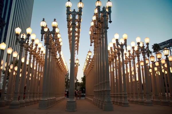 LACMA Museum Lights Los Angeles