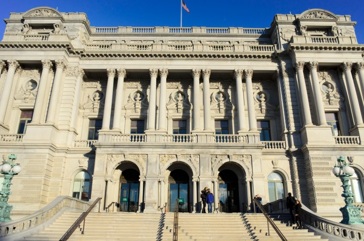 Exterior of the Library of Congress.