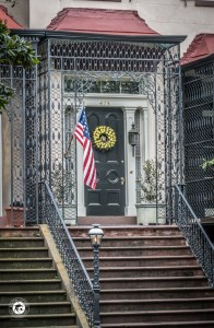 Front door to Savannah residence.