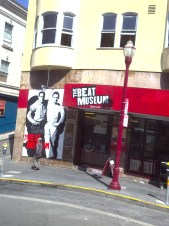 The Beat Museum on Broadway in North Beach. Mural features Neal Cassady & Jack Kerouac.