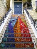 Mosaic Stairway to the Edge of Pacific Heights