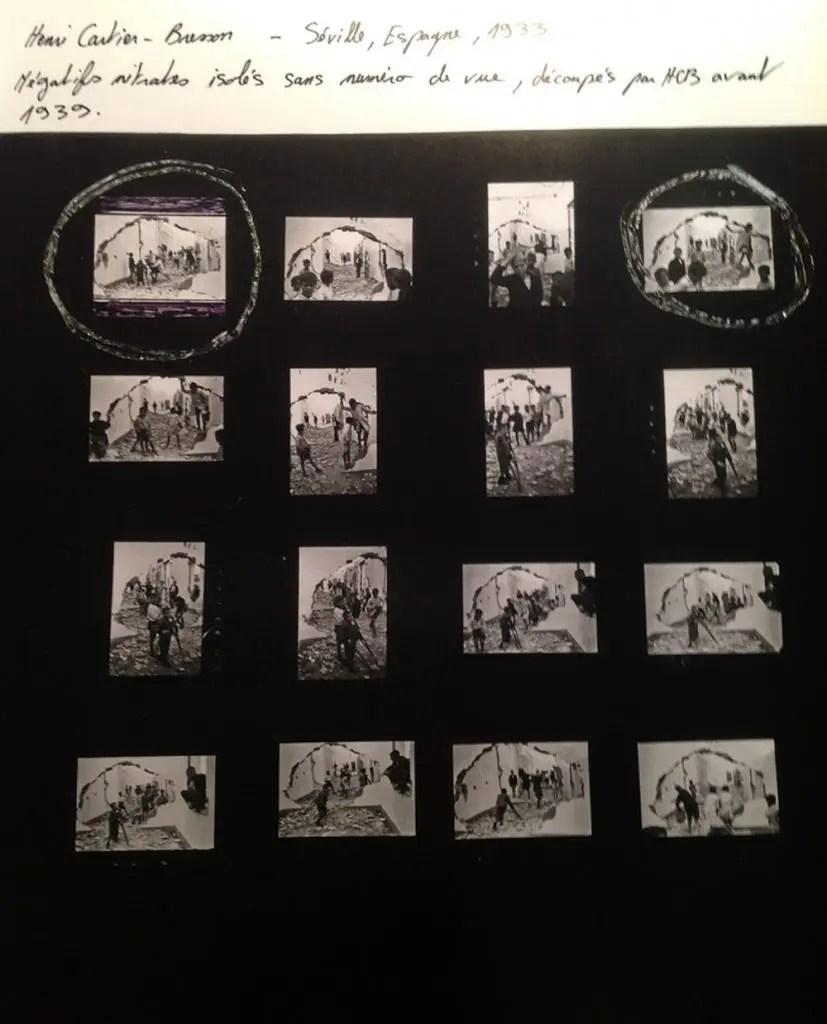 Henri Cartier-Bresson, Siviglia, Contact Sheet