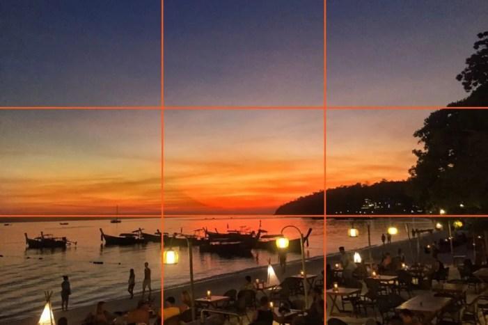 Regola dei terzi - paesaggio Thailandia