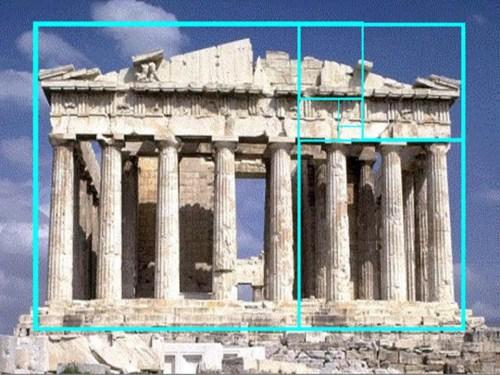 Partenone - sezione aurea
