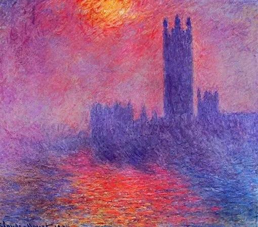 Colori caldi e freddi - Claude Monet, il parlamento di Londra, 1904