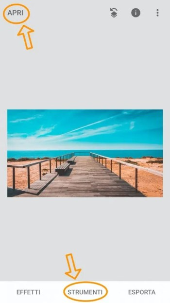 Fotografare paesaggi - Snapseed