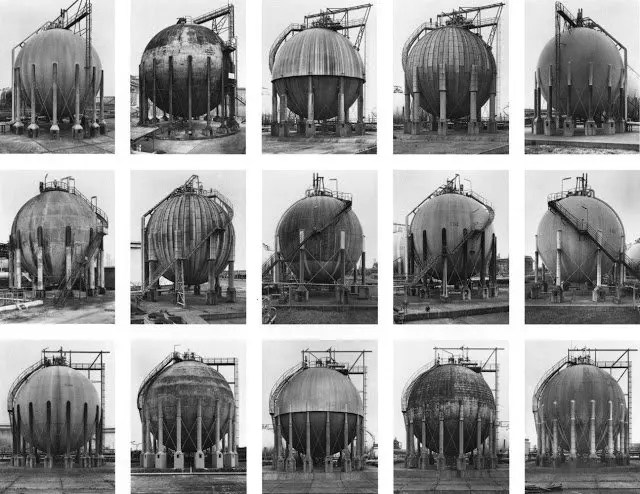 Idee fotografia - Gas tanks,1983-92 © Bernd and Hilla Becher