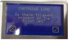 LOAD CARTRIDGE確認画面