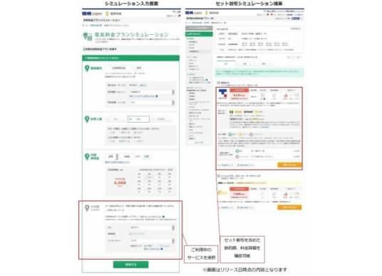 「価格.com 電気料金比較」、シミュレーション機能をリニューアル