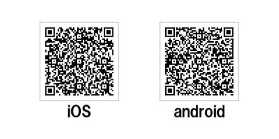 専用アプリのダウンロード先 (QR Code)