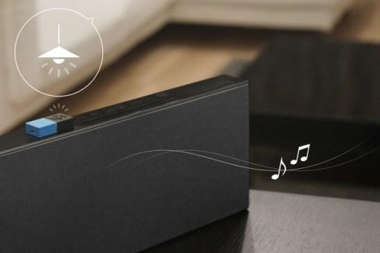 部屋が明るくなると自動で音楽を再生する仕組み