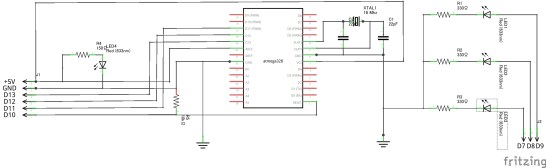 Arduino Bootloader Writer Sketch_回路図