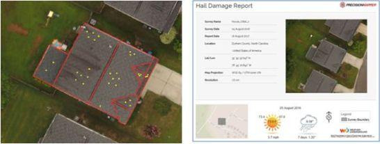 HAIL DAMAGE REPORT(雹被害レポート)画面