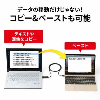 ドラッグ&ドロップ対応Type-Cリンクケーブル(Mac/Windows対応)