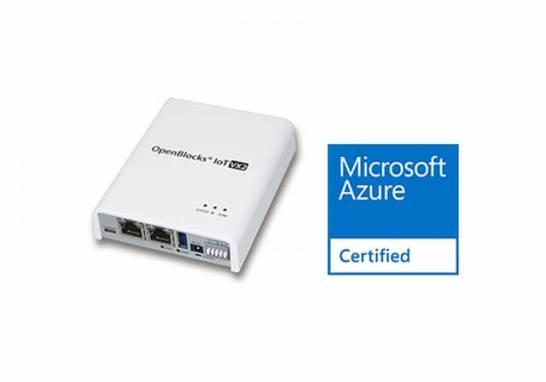 OenBlocks IoT VX2とAzure Certified for IoTロゴ