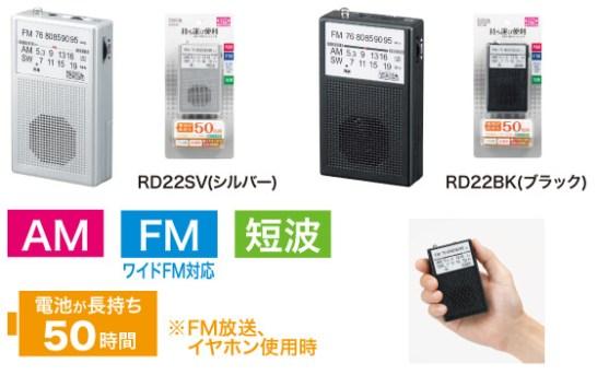 AM・FM・短波ハンディラジオ