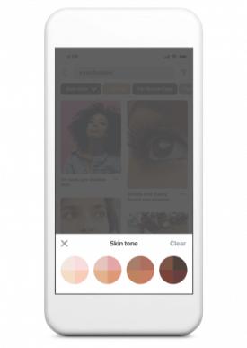 ピンタレスト 、モバイル端末に「肌の色を選択」機能を導入!