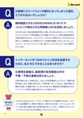 ソニーのネット ソネット 防災マニュアル