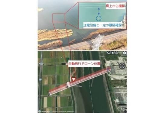 ドローンを用いた送電設備自動点検技術の実設備での検証を実施