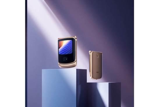 +Styleが「motorola razr 5G」の限定カラー「Blush Gold」を国内独占販売