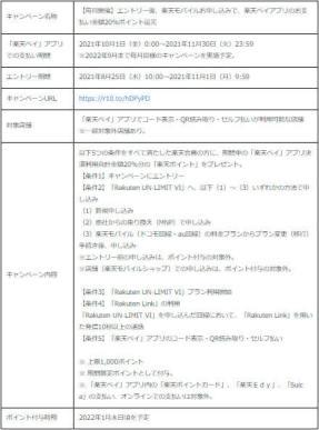 ■キャンペーン概要(「楽天ペイ」アプリ利用者対象②)