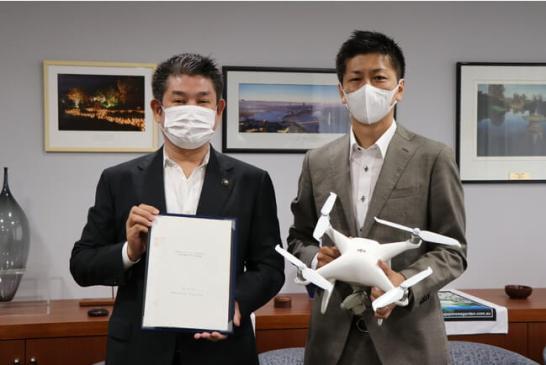 「災害時等におけるドローンを活用した支援活動等に関する協定」を令和3年7月15日付で京奈DRONE STATIONと締結