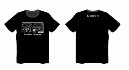 賞品1:M5Stack Tシャツ サイズ:フリー(Lサイズ相当)