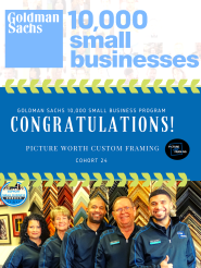 picture-worth-custom-framing-goldman-sachs-10k-small-businesses
