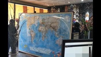 oversized art oversized map 9 feet by 6.5 feet