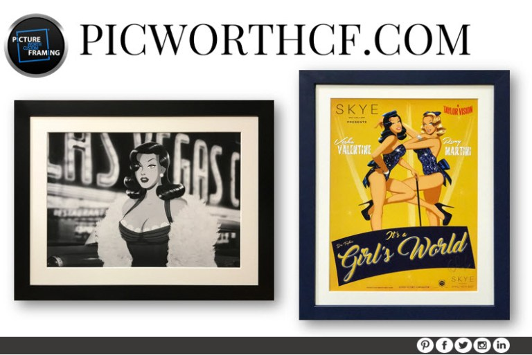 Pop art custom framing