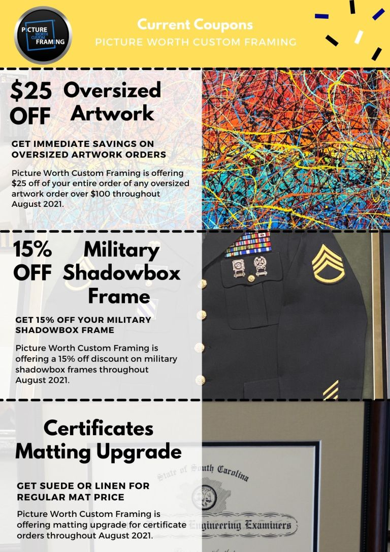 Picture Worth Custom Framing Current Coupons-August 2021