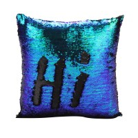 Mermaid Pillow Cover Glitter Sequins Throw Cases Car Home ...