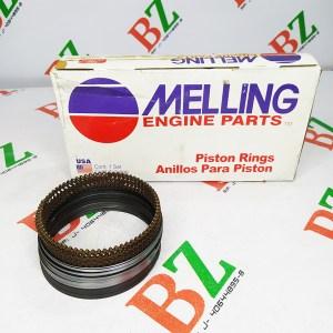 Juego de anillos Chevrolet motor 350 marca Melling medida 0.75 Cod m2m 4860
