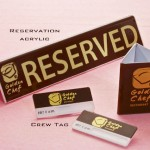 RESERVED SIGN, NAME TAG, BILL HOLDER