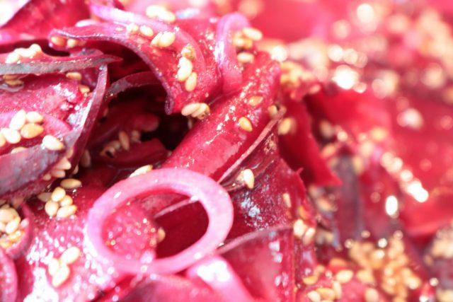 Rote Bete Carparccio #rezeptidee #vegan #rohkost #lowcarb #schnell #lecker #ohneKohlehydrate