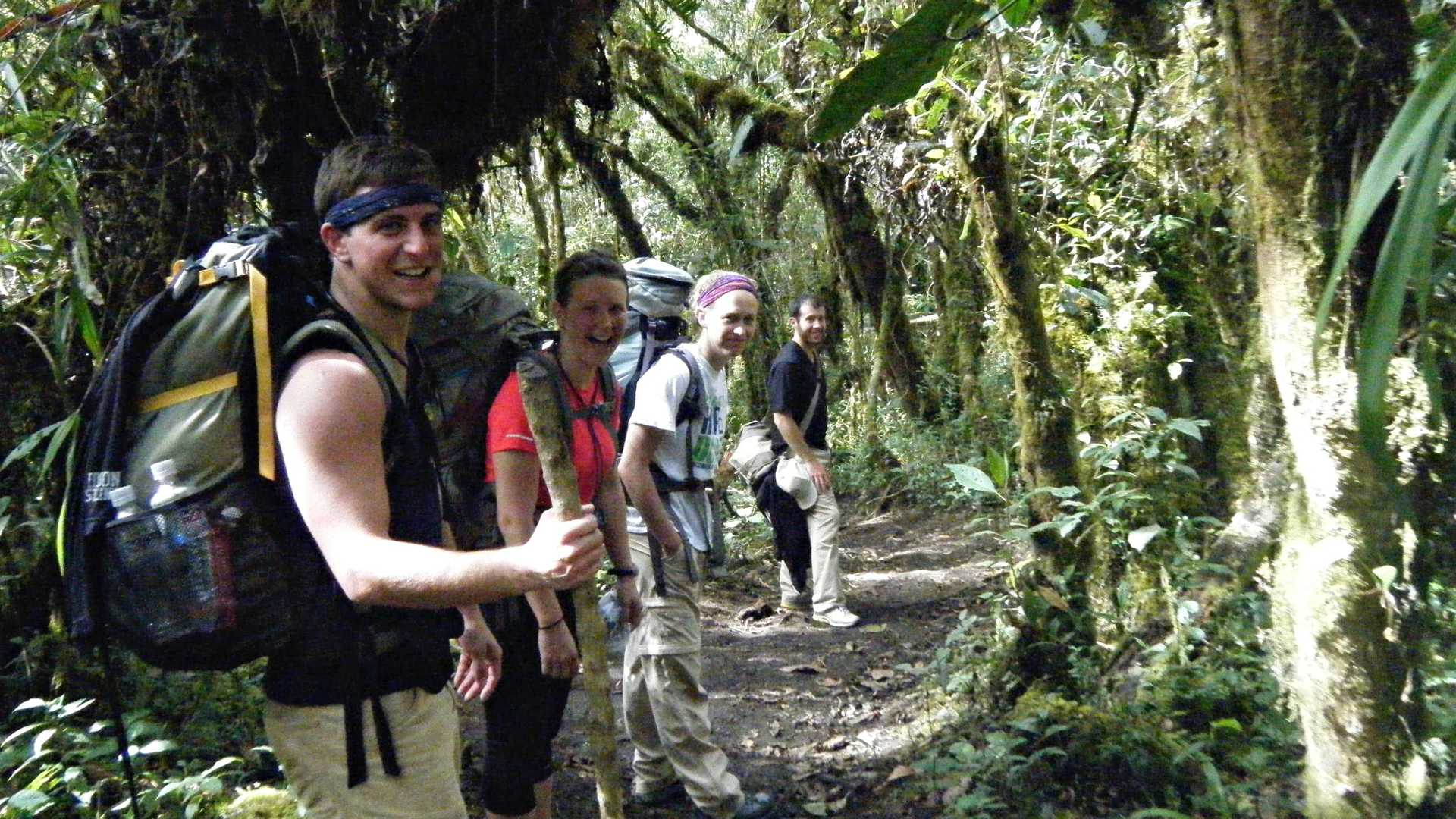 pie experiences Trekking Group on the Inca Jungle Trail to Machu Picchu