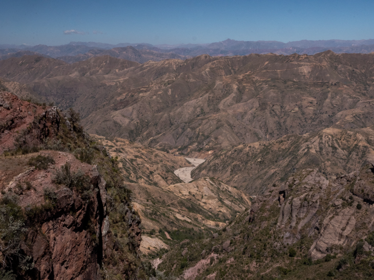 Views of the Bolivian landscape in Torotoro National Park