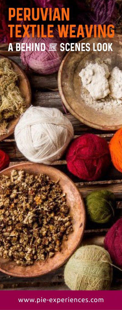 Peruvian textile weaving - Pinterest image